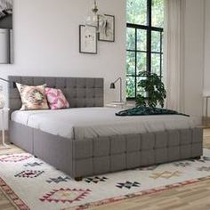 Greyleigh™ Kerens Tufted Upholstered Storage Standard Bed & Reviews | Wayfair Upholstered Platform Bed, Upholstered Beds, Platform Beds, Space Saving Furniture, Bed Furniture, Furniture Ideas, Cosmopolitan, Small Space Bedroom, Small Rooms