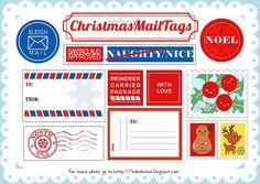 Christmas Mail Tags