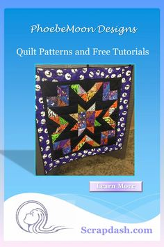 """This 38"""" x 38"""" quilt thrives on variety! Gather your dotted scraps or use 32 five-inch squares to make a dramatic wall hanging. Available by digital download PDF. Proceeds from the sale of this pattern will be donated to Cystic Fibrosis research. #quilt #quiltpattern #scrapdash Lap Quilts, Small Quilts, Mini Quilts, Quilt Blocks, Quilting Projects, Quilting Designs, Quilting 101, Quilt In A Day, Half Square Triangle Quilts"""