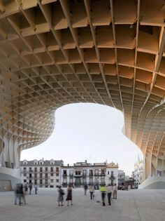 'Metropol Parasol' is the new icon project for Sevilla, - a place of identification and to articulate Sevillas role as one of Spains most fascinating cultural destinations. Architecture Details, Interior Architecture, Minimalist Architecture, Beautiful Architecture, Contemporary Architecture, Interior Design, Grand Parasol, Timber Structure, Seville Spain