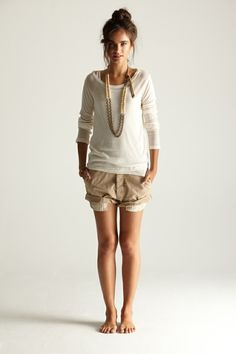 White and khaki