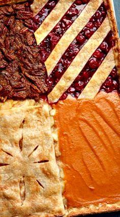 Four-Flavor Sheet Pan Pie ❊