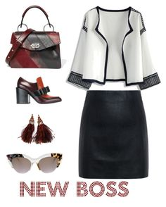 """New boss"" by raffaellapapami on Polyvore featuring Chicwish, McQ by Alexander McQueen, Marni, Proenza Schouler, Louis Vuitton and Fendi"