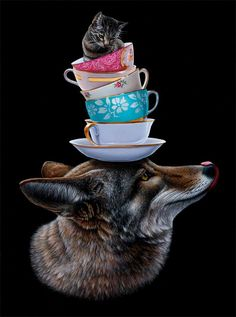 Creating stunning, realistic depictions of animals and objects, Canadian artist Jacub Gagnon includes surreal elements within his compositions, taking us out of…
