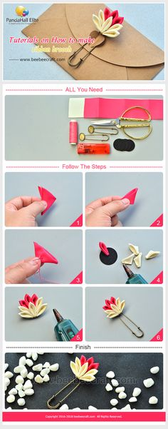 #Beebeecraft #Tutorials on how to make #ribbon #brooch