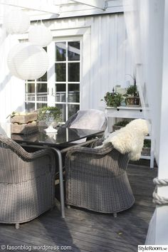Uteplatser vi drömmer om07 Outdoor Furniture Sets, Outdoor Decor, Porch, Villa, Balcony, Space, Garden, Home Decor, Floor Space