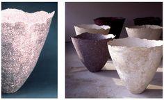 Paper Work by Gjertrud Hals, materials: cotton, flax and silk fibers, cellulose glue. H ca 80 cm