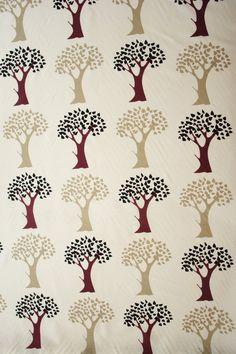KINNAMARK Trees Linen fabric Scandinavian fabric Scandinavian design Swedish fabric