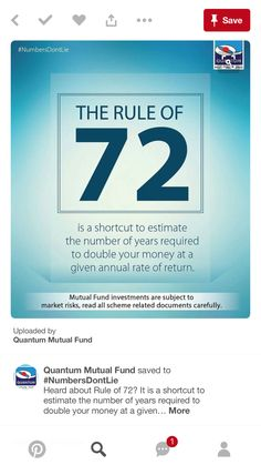 Rule Rule Of 72, Market Risk, Don T Lie, Investing, Numbers, Letters, Reading, Letter, Reading Books