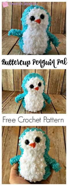 The Buttercup Penguin Pal is a soft, huggable friend made from Red Heart Buttercup yarn. This little guy makes a great gift.