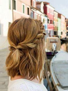 Coiffure carré long 2020 : 50 idées de coiffures carré long - Lucette Hairstyles For Medium Length Hair Easy, Easy Hairstyles For School, Medium Hair Styles, Curly Hair Styles, Hair Medium, Hairstyles For Shoulder Length, Short Styles, Everyday Hairstyles, Medium Long