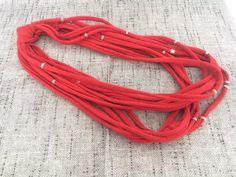 COLLANA MULTIFILO COTONE collana fibra tessuto di ChicItalianDress