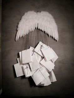 Angel wing advent calendar...clever idea