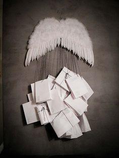 Angel wing advent calendar...clever idea