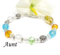 Special Gift For Aunt Aunt Beaded Poem Bracelet by ABeadedStory