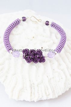 Dainty hand coiled wire bracelets made with hard wearing enamel copper wire and complimentary beads and finished with a handmade clasp. Length approx these can be made to other lengths or colours if desired, please contact me Copper Wire, Bracelet Making, Lilac, Crochet Earrings, Colours, Beads, Bracelets, Handmade, Jewelry