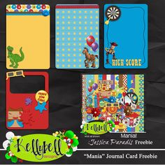 Kellybell Designs/ Jessica Paradies | Mania Journal Cards