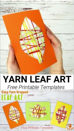This Yarn Wrapped Leaf Art is so pretty! A fabulous way to capture the colours of the season and build fine motor skills. An easy to make leaf craft with 6 printable leaf templates to choose from. A simple and fun Fall craft for kids of all ages.#kidscraftoom #leaf #leaves #Fallcrafts #Fallart #leafcrafts #leafart #Autumnart #Autumncrafts #yarncrafts #kidscrafts Easy Fall Crafts, Fall Crafts For Kids, Thanksgiving Crafts, Crafts For Teens, Art For Kids, Kids Diy, Summer Crafts, Christmas Crafts, Autumn Activities