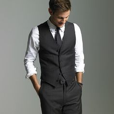 Charcoal grey but with ivory tie, and blush tie for groomsmen?