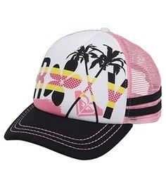 Roxy Girls' Splashin Trucker Hat (Kid) #surfoutlet
