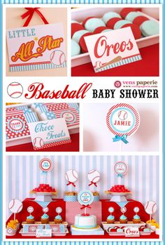 Baseball Birthday Party Baby Shower Ideas and Inspiration Shower Party, Baby Shower Parties, Baby Shower Themes, Baby Boy Shower, Shower Ideas, Bridal Shower, Baseball Birthday Party, Birthday Parties, Softball Party