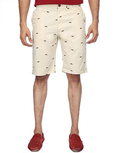 US Polo Printed White Cotton Casual Slim Fit Men Shorts | Buy ...