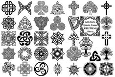 This set comes with 40 PNG files (including Tree of Life and Celtic Cross) with transparent backgrounds. Also included are AI and EPS VECTOR Files each). Celtic Symbols And Meanings, Druid Symbols, Celtic Tree, Embroidery Patterns Free, Machine Embroidery, Embroidery Designs, Photoshop Design, Graphic Illustration, Design Bundles