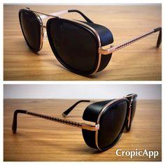 Vintage looking Retro Steampunk Tony Stark Sunglasses by UseReuse on Etsy  Anteojos 64c0be0ebc7b