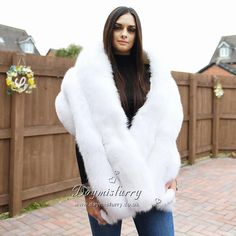 New coming gorgeous white fox fur Bridal shawl for a perfect wedding/winter outfit. Bridal Shawl, Bridal Cape, Wedding Fur, Fur Cape, White Fox, Bridal Outfits, Fox Fur, Perfect Wedding, Winter Outfits