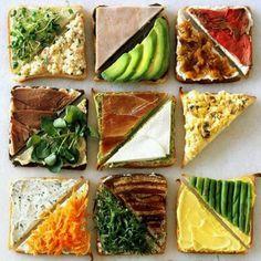 Torradas saudáveis, gostosas, diferentes e criativas. #ideiascriativasnoyes