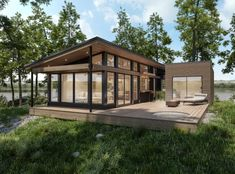 Maisons usinées, lofts modulaires et bien plus encore Steel Framing, Plan Chalet, Multi Family Homes, Tiny House Cabin, Container House Design, Small House Plans, Future House, Building A House, House Styles