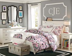 Teenage Girl Bedroom Ideas | Neutral Colors | PBteen Loveee this bedroom!