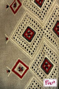 Embroidered sleeve of the Ukrainian traditional shirt. Rivne district. Early XX cen.