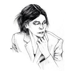La philosophie au féminin 3/3 - Cynthia Fleury #cynthiafleury #drawing #dessin #portrait #illustration #philosophy #artwork #lineart #staedler