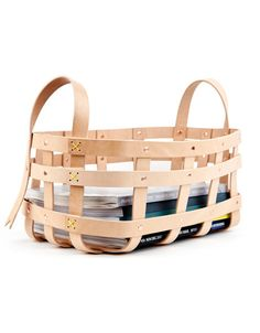 Leather Strap Basket