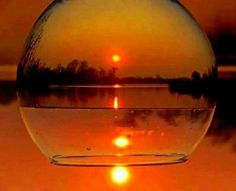 Best Sunset, Beautiful Sunset, Beautiful World, Wine Glass Pictures, Reflection Photography, Photography Ideas, Wine Time, Through The Looking Glass, Glass Ball