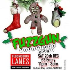 Fuzzgun Christmas Bowl at Bloomsbury Lanes, Basement of Travistock Hotel, Bedford Way, London, WC1H 9EU, UK on Dec 20, 2014 to Dec 21, 2014 at 11:00pm to 3:00am. Expect to hear the likes of: Incubus, System of a Down, Anthrax, Slipknot, Green Day, Nirvana, Blink 182, Snot, Machine Head, Soundgarden, Red Hot Chilli Peppers, Boy Hits Car, Korn, Snuff, Slayer, Deftones, Pearl Jam, Fear Factory, Less Than Jake, Bloodhound Gang, Filter, Tool, L7, Faith No More. Category: Nightlife,  Price: Door…