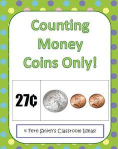 Classroom Freebies: Fern Smith's Counting Money ~ Coins Only Center Game Classroom Money, Math Classroom, Kindergarten Math, Classroom Ideas, Teacher Freebies, Classroom Freebies, Teaching Money, Teaching Math, Teaching Ideas