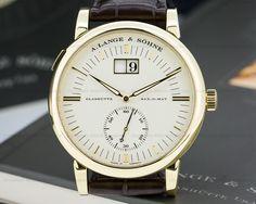 A. Lange & Söhne - Grand Langematik, ref.309021 - Self-winding, cal.L921.4, 3Hz, 46hr p.r., date - 37mm, yellow gold case, silver dial ~17k