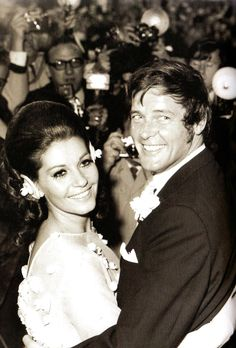 Newlyweds actor Roger Moore and Italian actress Luisa Mattoli were married April 11, 1969.  They divorced after 27 years of marriage in 1996.  In 2002 he married for the fourth time to Danish-Swedish multi-millionaire Kristina 'Kiki' Tholstrup.