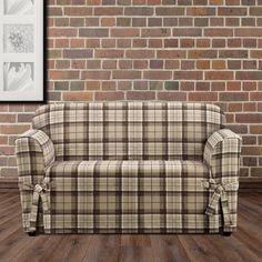 184 Broyhill Plaid Upholstered Sofa Living Area Plaid