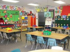 Lots of pictures of classroom setup from ECE to school age classrooms.