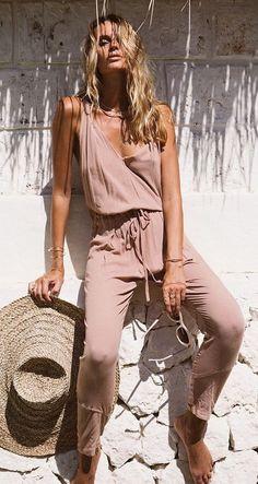 beach jumpsuit. summer style.