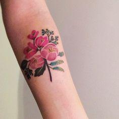 Rifle Paper inspired tattoo by Felix Vayner