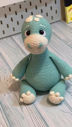 Crochet PATTERN Dinosaur - Amigurumi - The Effective Pictures We Offer You About amigurumi free pattern animals A quality picture can tel - Crochet Dinosaur Patterns, Crochet Patterns Amigurumi, Amigurumi Doll, Plush Dolls, Crochet Elephant, Elephant Pattern, Cat Pattern, Free Pattern, Dragon En Crochet