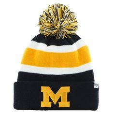 '47 Brand Michigan Wolverines Breakaway Knit Beanie - Navy Blue