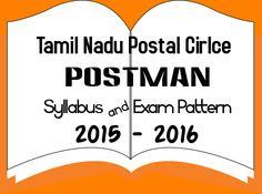 Tamil Nadu Postal Circle Syllabus & Exam Pattern for Postman Posts 2015