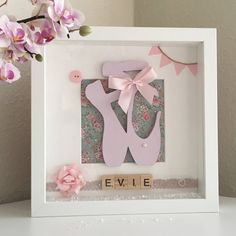 Ballerina Picture Frame Personalised Ballet Gift Ballet Box Frame with Scrabble Tile Name Gift for Ballerina Birthday Present by EvieGlitterSparkles on Etsy https://www.etsy.com/uk/listing/524916847/ballerina-picture-frame-personalised