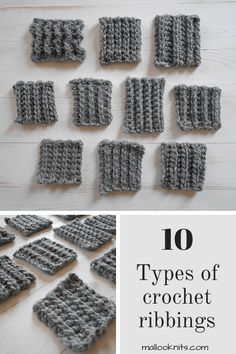 Crochet Stitches 86119 Do you know how many ways there is to crochet ribbing? You can learn 10 different techniques with this crochet tutorial that covers everything. Ribbed Crochet, Tunisian Crochet, Diy Crochet, Crochet Crafts, Crochet Beanie, How To Crochet, Crochet Geek, Knitted Baby, Crotchet