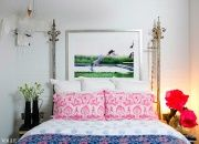 taylor's bedroom with a photograph by arthur elgort - via vogue